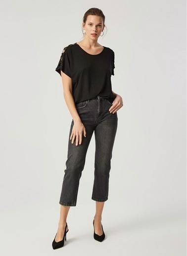 Monamoda Bluz Siyah